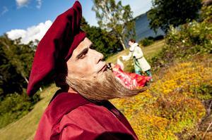 Foto: Predrag SimicevicDick Eriksson  som Pantalone i Betjänten, som hade premiär vid Gregersboda den 4 juli.