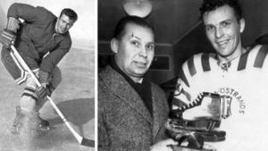 Bert-Ola Nordlander tilldelades guldskridskon 1961, för bästa insats i VM i Geneve. Då spelade han fortfarande i Wifsta/Östrand, .liksom när han blev världsmästare i Colorado Springs 1962. Ett år senare gick Nordlander till AIK och blev sedan kvar i Stockholmshockeyn.Bild: Arkiv