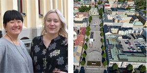 Maria Sääf och Katarina Folkeson skriver om Miljöpartiets idéer om hur centrala Örebro sk göras om så att det blir en fungerade stadsdel för alla samtidigt som hänsyn till miljön finns med i planerna. Foto Pontus Olofsson (porträtten)