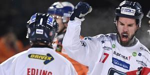Mattias Hammarström dundrade in tre hörnor i första halvlek. Foto: Ulf Palm