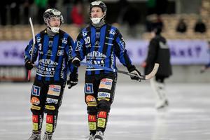 Tobias Andersson, här med Janne Rintala i Sirius, återvänder till Falun.
