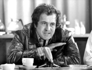 Den italienske filmskaparen Bernardo Bertolucci på besök i Sverige 1977.Foto: Gunnar Lantz / SvD / TT