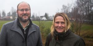 Johan Elfving är projektledare och Cecilia Högberg är vd för HSB Södertälje.