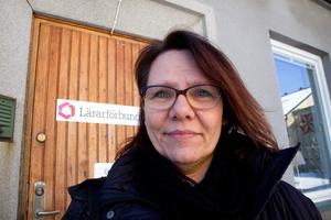 Ing-Mari Mårtensson, ordförande för Lärarförbundet i Hudiksvall.