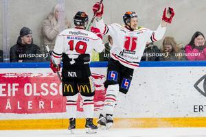 Marcus Weinstock gjorde äntligen mål. Bild: Mathilda Ahlberg/Bildbyrån