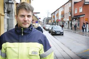 Rok Ogrin, trafikingenjör på Norrtälje kommun.