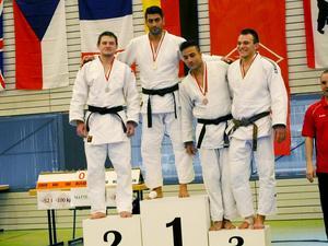Framgångar för Judo Sundsvall i Berlin. På bilden syns guldmedaljören Saeed Karimizadeh samt bronsmedaljören Tammar Abbud, båda Judo Sundsvall.
