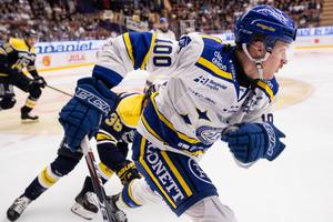 Martin Karlsson och hans LIF var aldrig nära att hota HV71 på allvar. Bild: Daniel Eriksson, Bildbyrån