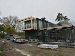 Här har bygget börja ta riktig form och det börjar gå att ana det färdiga resultatet.