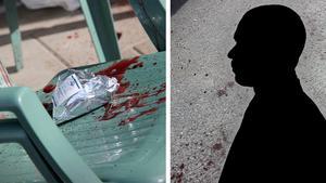 Den knivhuggne mannen lyckades ta sig till en altan i närheten för att få hjälp. Den misstänkte gärningsmannen är ännu inte gripen.