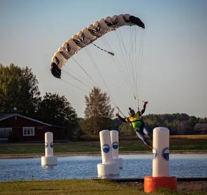 Karim Ennasri, Fallskärm Gefle, trea i Canopy Piloting, SM 2019, foto Nico Emanuelsson