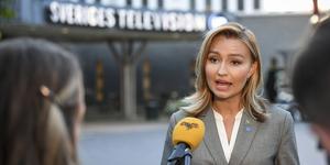Ebba Busch (KD) efter partiledardebatten i SVT om corona.