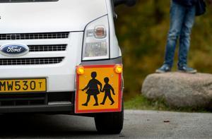 Skoltaxin är framkörd. Foto: Janerik Henriksson/TT