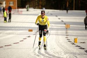 Jens Eriksson, Dala Floda, i Åsarnas SM-femmil där han vann efter en stark körning.