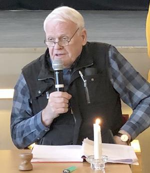 Åke Edin valdes till ny ordförande i Bräckes PRO-förening. Foto: Anita Näsberg Andersson