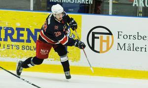 Jakob Forslund gjorde mål i comebacken mot Enköping.