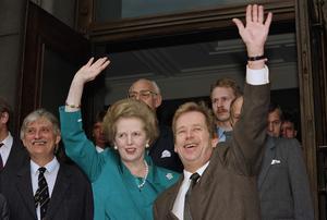 Margaret Thatcher och Václav Havel 1990. Foto: Pavel Horejai/AP