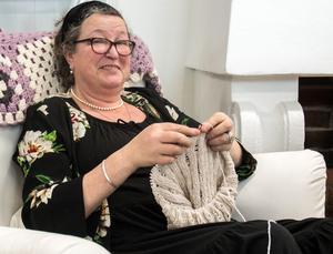 """""""Visst skulle det vara roligt med en stickfestival i Borlänge! Jag har läst att de haft det i andra städer"""" säger Annelie Sörslätt."""
