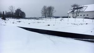 Här, vid Eriksbergs trafikplats, höll den mördade företagaren på med sitt senaste fastighetsprojekt.