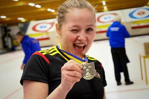 Lisa Norrlander, Östersunds CK, tog silver i figur-SM.Foto: Jörgen Nilsson