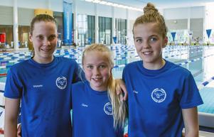 Söderhamnstrion Victoria Flyman, Clara Bergh och Elsa Bergh levererade medaljer i Eskilstuna.