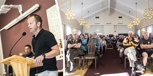 Kommundirektör Magnus Haglund öppnade mötet i Björnas församlingshem.
