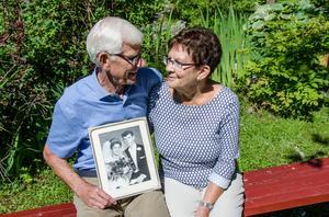 Reine och Berit Nordvall gifte sig i Lidens gamla kyrka för 50 år sedan.