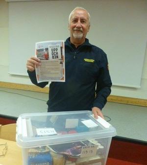 Torbjörn Hallberg, ansvarig för krisberedskapen i Hudiksvalls och Nordanstigs kommuner, informerade om hur vår kommun är rustad inför kommande krissituationer.