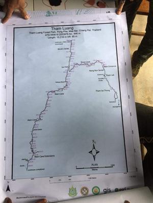 En karta över området där pojkarna försvann. Foto: Hot Rock Climbing School