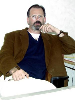 Peter Springare på en bild från slutet av 1990-talet då han jobbade vid polisen i Avesta. Foto: Börje Gustafson/Arkiv