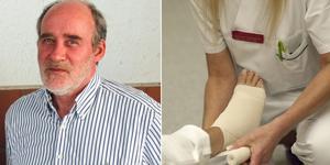 Roger Svensson, VD på vårdbolaget Lugn och Ro, vill inte kommentera IVO's kritik av läkarens sårbehandling. Bild: Britta Söderberg, Leif R Jansson/TT