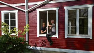 Micke och Daniel föll för den gamla gården i Grönviken i Bräcke.