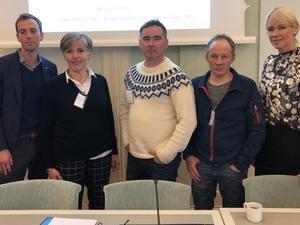 Ordförande för Tåssåsens sameby Nicklas Johansson besökte Sveriges riksdag tillsammans med Nils Anders Jonsson för att prata om renskötsel och rovdjur. Foto: Kalle Olsson.