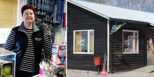 Butiken i macken stänger vid årsskiftet. – Om vi har varor kvar fortsätter vi att hålla öppet även i januari, men sedan är det slut, säger Marie Forsgren.
