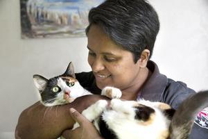 Efter en tids omvårdnad kunde Destiny läka och är nu en glad katt som gärna gosar med matte Ulrika. Det finns ett stort behov av jourhem för katter säger hon och uppmanar de som har möjlighet att anmäla sig till närmaste katthem.