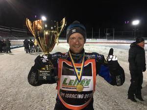 Martin Haarahiltunen tog hem SM-guldet i isracing 2018.