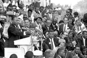 Martin Luther King håller sitt berömda tal