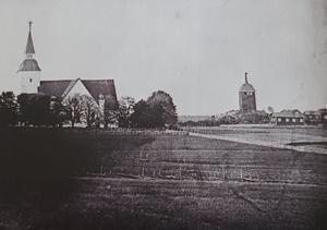 Sorunda kyrka på bild från 1800-talets slut. Foto: Nynäshamns bildarkiv
