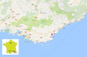 Olyckan skedde i höjd med staden Saint Maxime.