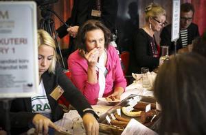 Helena Appelqvist, bronsmedaljör i Sveriges mästerkock, satt med i juryn som bedömde ett 30-tal korvar och köttprodukter.