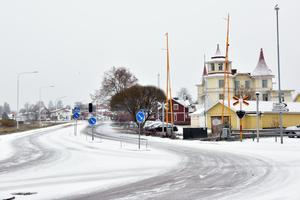 Även i Mora lade sig snön under fredagsmorgonen.