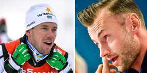 Emil Jönsson Haag och Petter Northug. Foto: Anders Wiklund/TT och Ole Martin Wold/TT