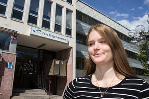 Idag ser framtiden ljus ut, tycker Erika Frank. Hon satsar på studier på samhällsvetenskapliga programmet och politik. Hon är ny ordförande för SSU i Falun.