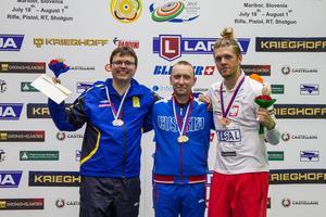 Medaljtrion i viltmålets blandlopp. Sverige, Ryssland och Polen.