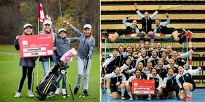 Lindesbergs golfklubb och Örebro SK:s handbollsdamer hör till de föreningar som får mest pengar av Svenska spel.