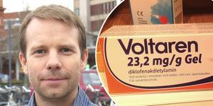 Björn Ericsson uppmanar till att sluta använda Voltaren gel.