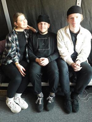 Linn, Christoffer och William.