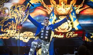 Sabaton, här på en bild från Sweden Rock, kommer till Huskvarna den 9 februari.