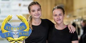 Line Ekedahl och Frida Selin – de senaste tillskotten i Strands trupp.