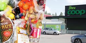 En man betalade för en burk Red Bull men lämnade Coop-butiken med varor värda 2 831 kronor i kundvagnen.